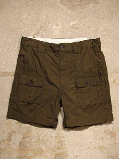 "Engineered Garments ""Ranger Short in Olive Reversed Sateen"""