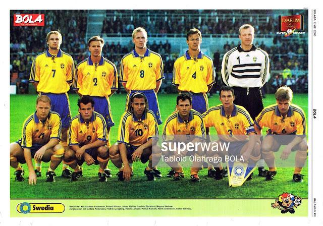 SWEDEN TEAM SQUAD EURO 2000