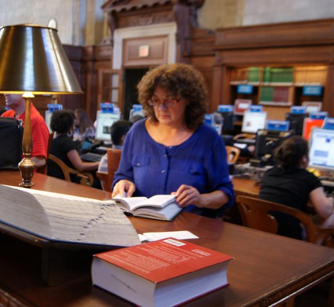 Llegint a la Biblioteca Pública de Nova York per Teresa Grau Ros