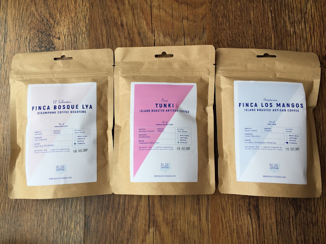 Blue Coffee Box coffee pouches