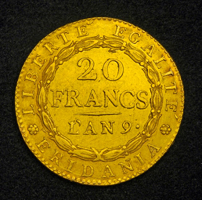 20 Francs Gold Coin Napoleon Bonaparte