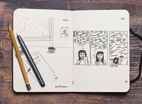 Inktober 2016 por Pegotiblog - Sara Torregrosa - Illustration comic ilustración