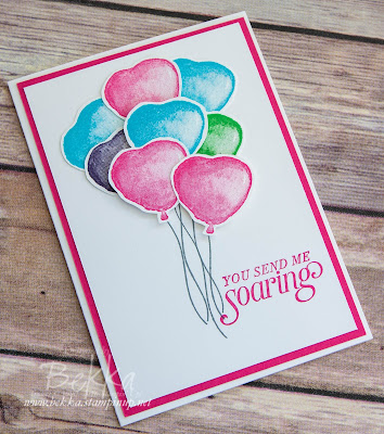 You Send My Heart Soaring - Happy Valentine's Day Card made with Stampin' Up! UK supplies