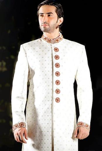 gambar desain model baju pengantin pria untuk pernikahan muslim modern