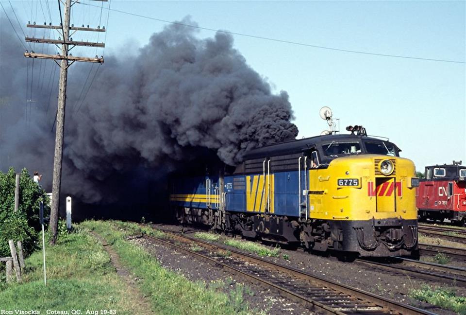 Industrial History: Smoking Diesel Locomotives