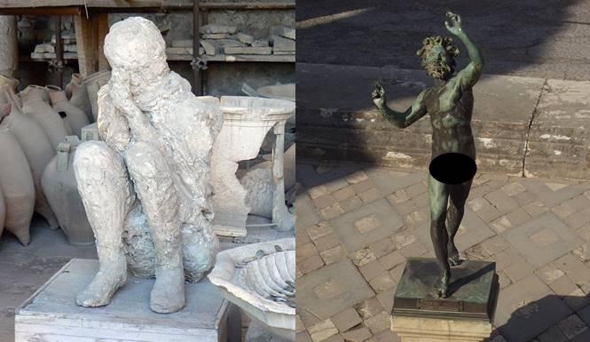 orang pompeii jadi batu