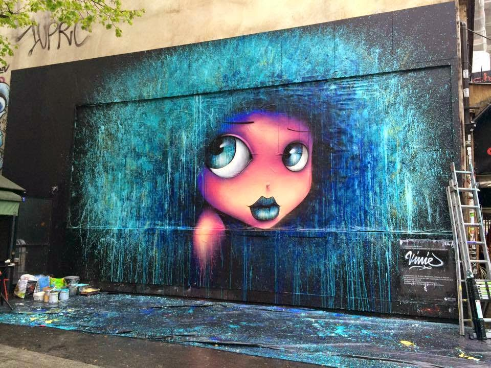"Vinnie is the latest artist to be appointed by the ""Le Mur Association"" to work on their iconic billboard in Paris, France."