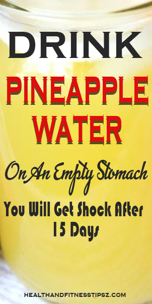pineapple water for weightloss