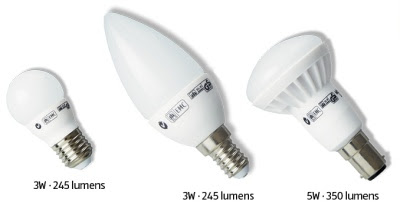 LED bulbs - small incandescent equivalents