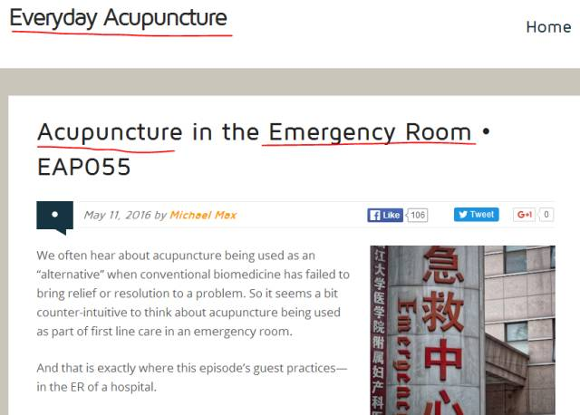 Acupuncture For Pain Management In The Hospital Emergency Room Abbott Northwestern