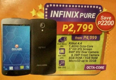 Cherry Mobile Infinix Pure Now Only Php2799, The Most Affordable Octa Core Smartphone in the Philippines