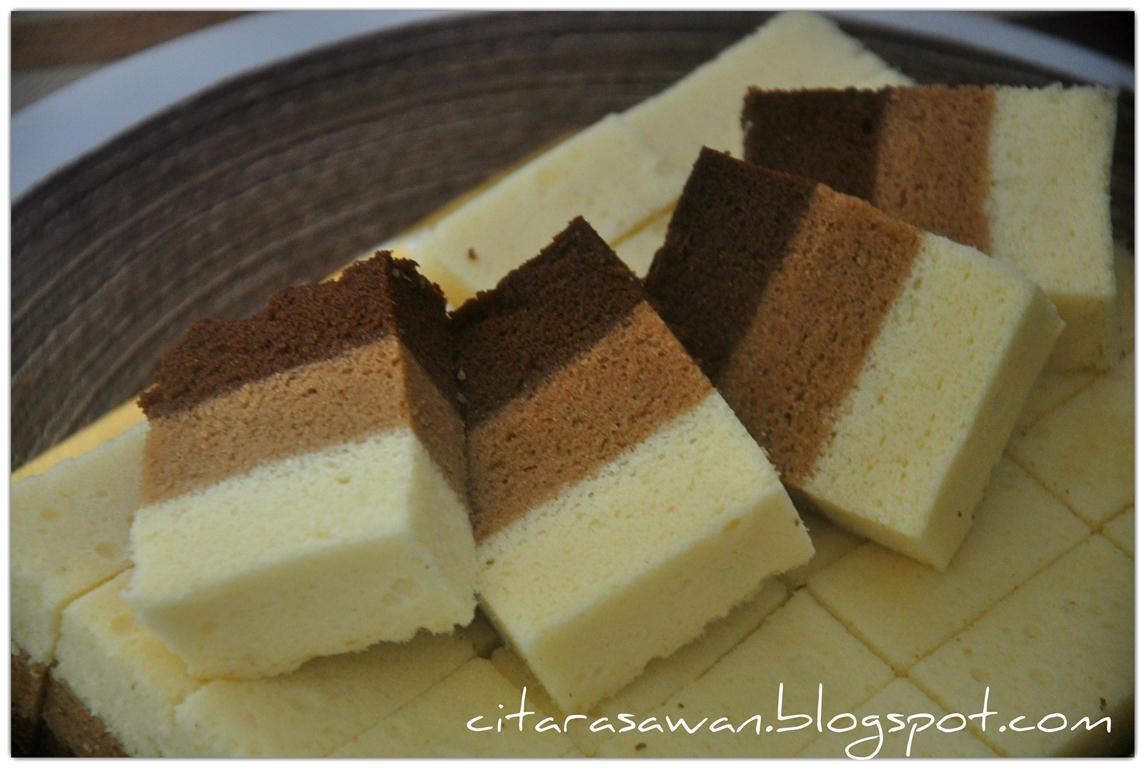 Kek Kukus Coklat Mocha Putih Telur ~ Resepi Terbaik