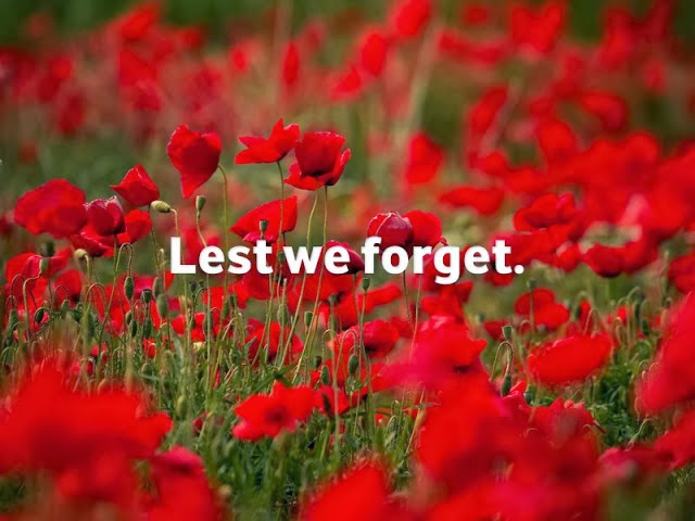 Jonathan's Blog: Lest We Forget: A Remembrance Day Communion