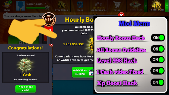 Download 8 Ball Pool Unlimited Cash (Mega MOD, Extended Stick Guideline) 4.0.2 by Qaiser Lodhi