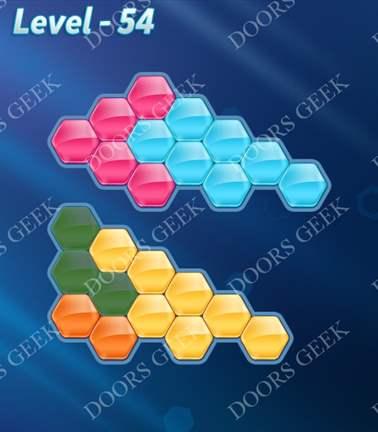 Block! Hexa Puzzle [5 Mania] Level 54 Solution, Cheats, Walkthrough for android, iphone, ipad, ipod