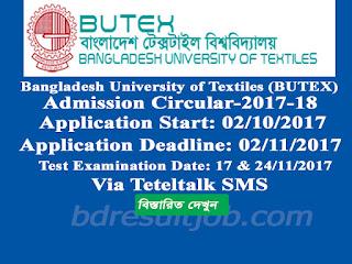 Bangladesh University of Textiles (BUTEX) Admission circular 2017-2018