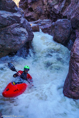 Austin Woody, another classic in Hell's Gate arizona kayak whitewater WhereIsBaer.com Chris Baer canyon