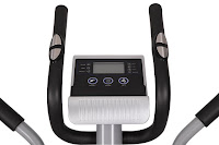 Sunny SF-E3607 console & dual-action handlebars, LCD display, hand grip pulse heart rate sensors in static handlebars