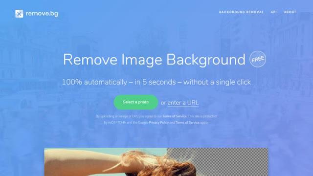 Remove.bg Tool gratis menghapus latar belakang foto dengan online gratis