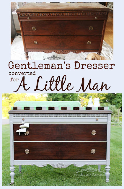 Changing Table Dresser Makeover, Bliss-Ranch.com