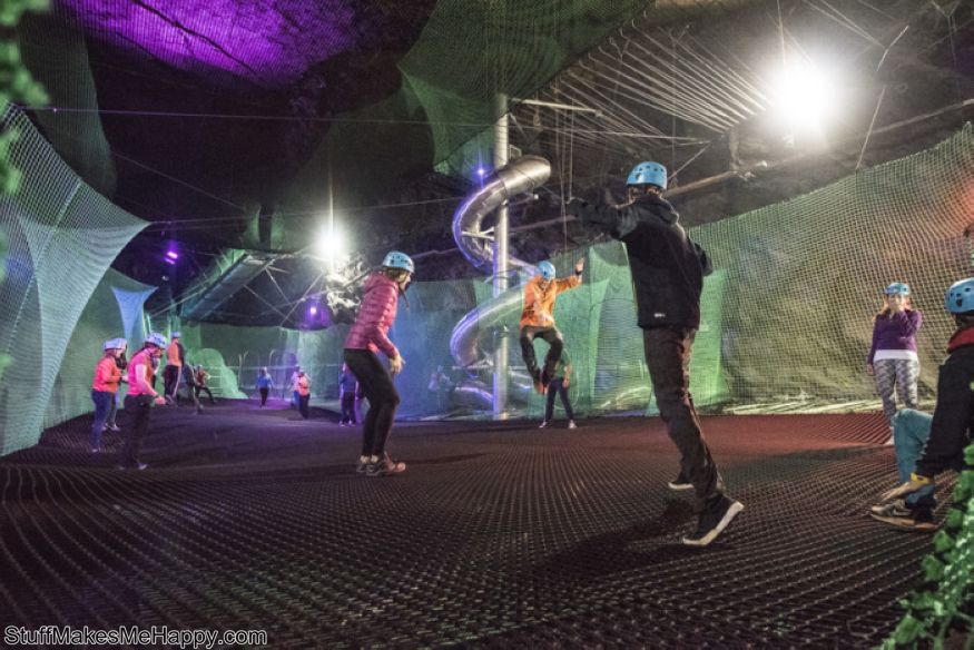 Trampoline Park in the abandoned mine (UK)