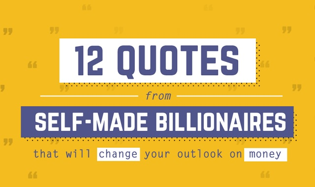 12 Quotes from Self-Made Billionaires that Will Change your Outlook on Money