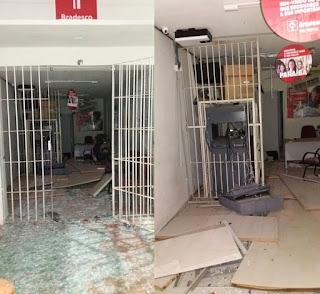 Grupo explode caixa eletrônico em Cubati, na PB, mas foge sem levar dinheiro
