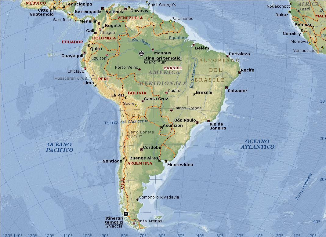 Cartina America Meridionale Politica.Tutto A Tutti Cartina America Sud