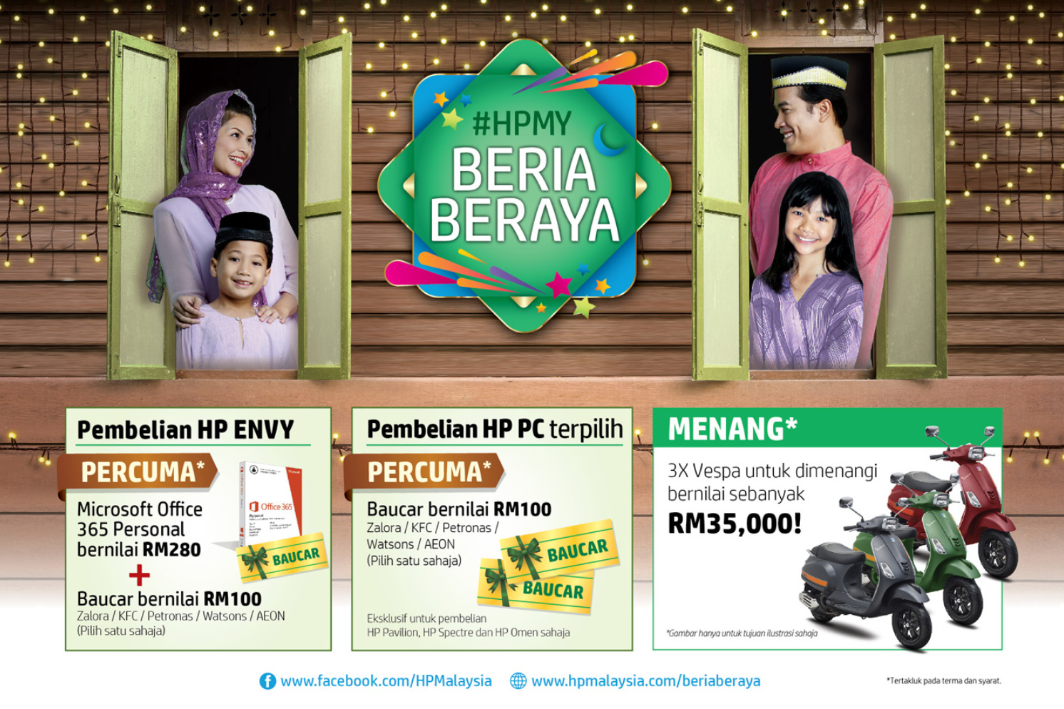 Hp Beria Beraya Win Vespa Scooter And Shopping Vouchers Frpm Zalora Kfc Petronas Watsons Or Aeon Worth Rm