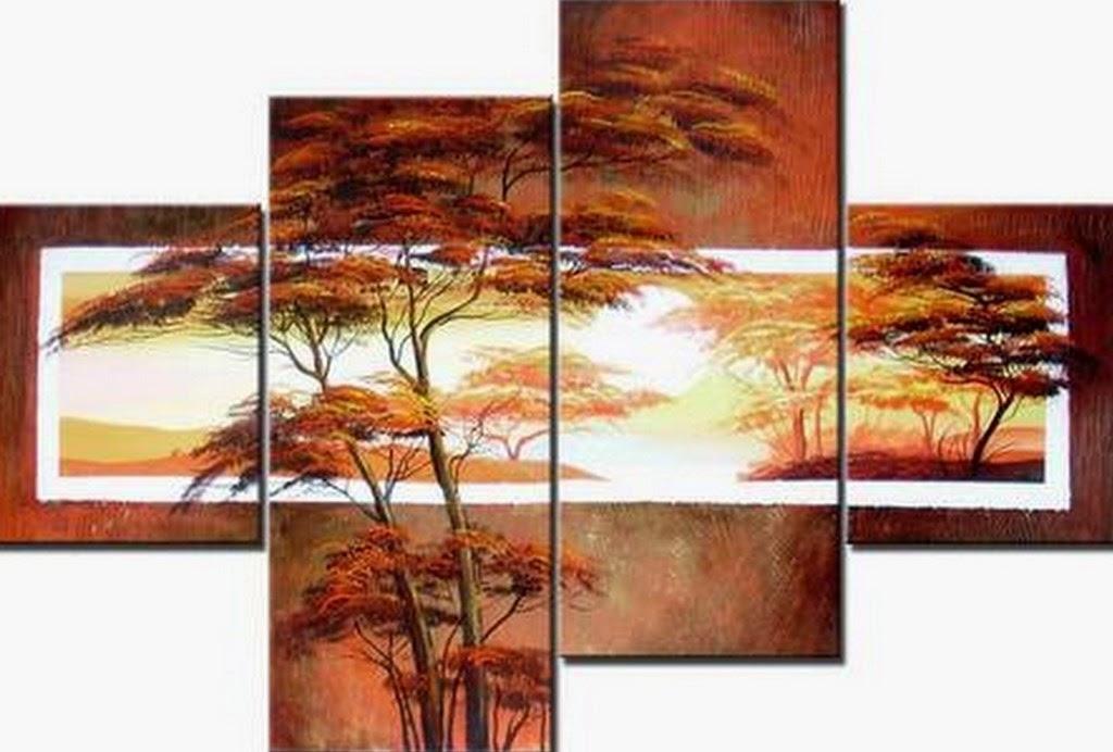 Cuadros modernos pinturas y dibujos paisajes f ciles con arboles y flores im genes de impacto for Imagenes de cuadros abstractos tripticos