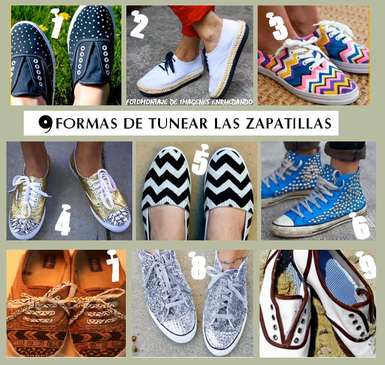 zapatillas, tunear,refashion, reciclar,sneakers