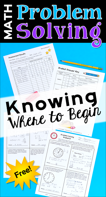 Teaching kids to how to solve math problems is a huge challenge, but often the biggest challenge is knowing where to begin instruction. Learn where to download this free set of problem solving assessments to use in your upper elementary classroom!