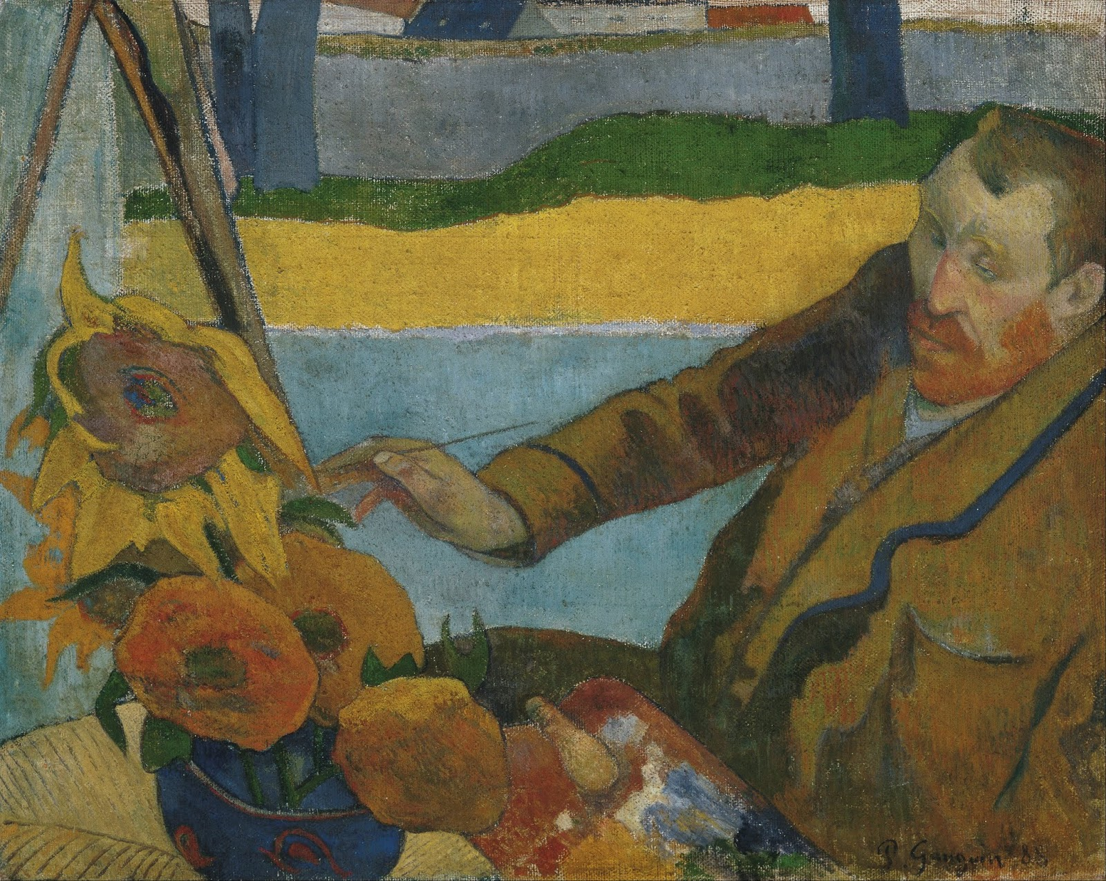 Vincent van Gogh painting sunflowers by Paul Gauguin, 1888