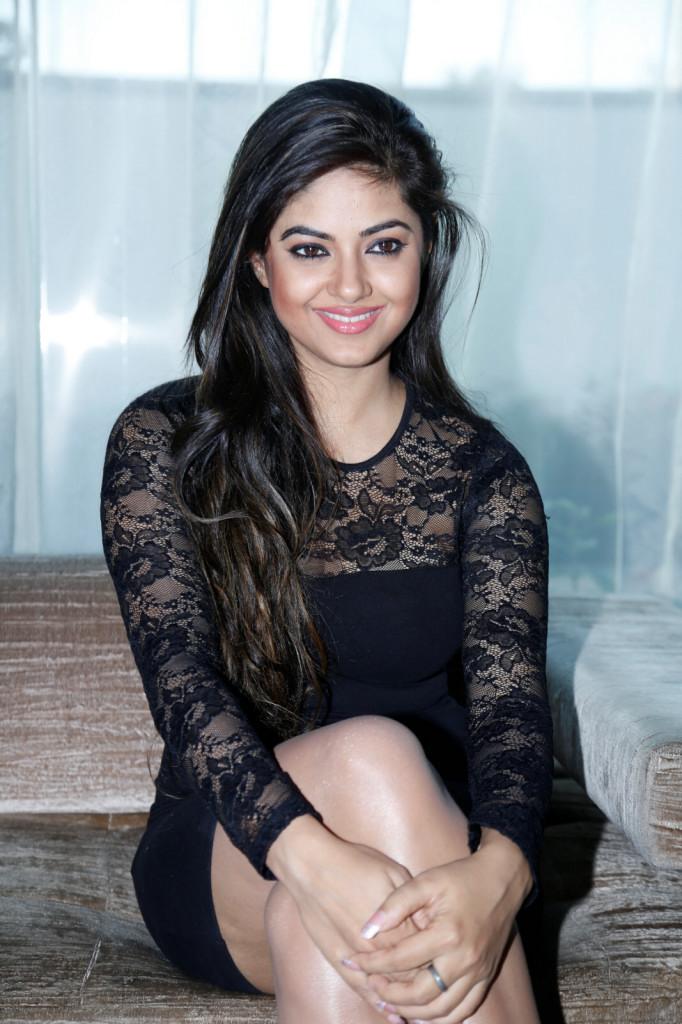 Meera Chopra Hot Stills in Black Dress