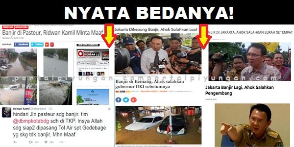 Nyata Bedanya! Bandung Banjir, Ridwan Kamil Minta Maaf, Jakarta Banjir, Ahok Cari Kambing Hitam