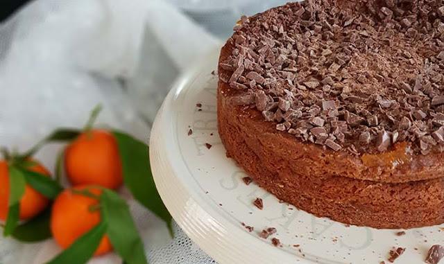 Torta alla ricotta, clementine e cioccolato