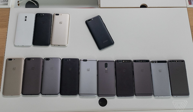 Check out all the OnePlus 5 prototype designs