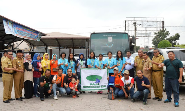 Wabup Sergai Sambut Hangat Atlet Arung Jeram R6 Junior
