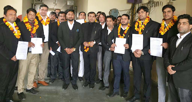 Congress Legislative Cell Chairman Anuj Sharma Advocate constituted the District Executive