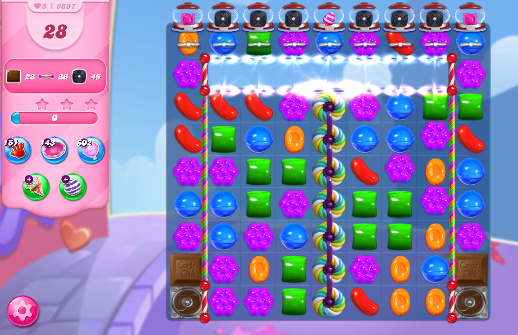 Candy Crush Saga level 5897