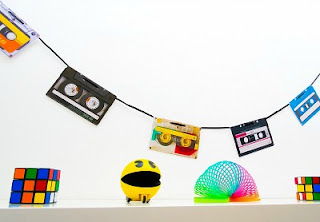 Retro Cassette Tape Bunting for an 80s Party