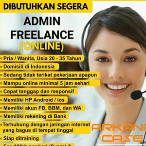 Lowongan Kerja Admin Freelance Arkana Case