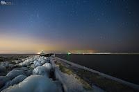 Zorza polarna z 18 marca, sfotografowana z Gdańska (Górki Zachodnie) w woj. pomorskim o godz. 22:15 CET. Autor: Arek Kubale
