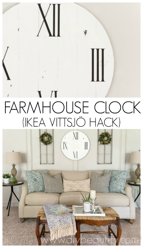farmhouse clock IKEA hack