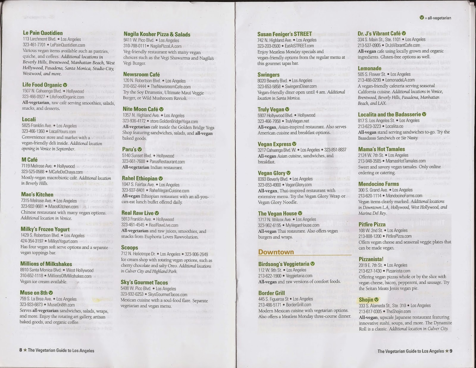 Here S A Starter List Of Restaurants The V Next To Restaurant Means Vegan Friendly Highlighted I Ve Been There And Loved It
