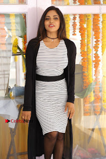 Telugu Actress Karunya Chowdary Stills in Black Dress at Soda Goli Soda Movie Opening  0319.JPG