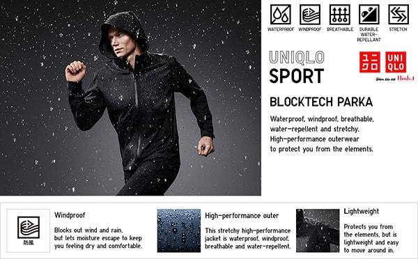 áo khoác chống thấm nước chính hãng uniqlo