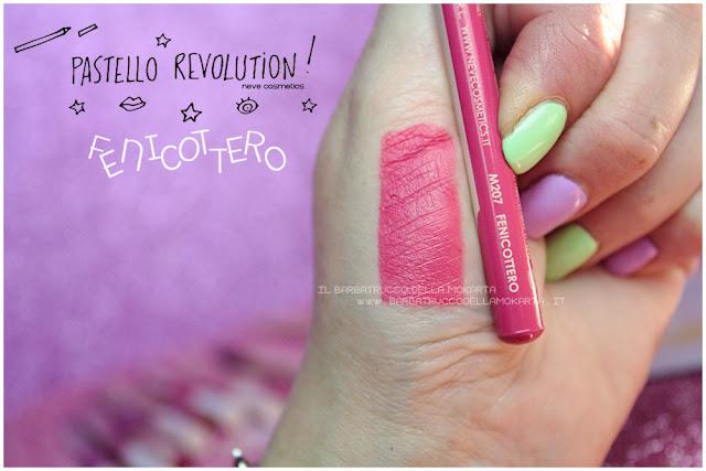 fenicottero swatches BioPastello labbra Neve Cosmetics  pastello revolution