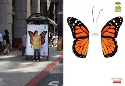 Paradas de transporte público y la creatividad.