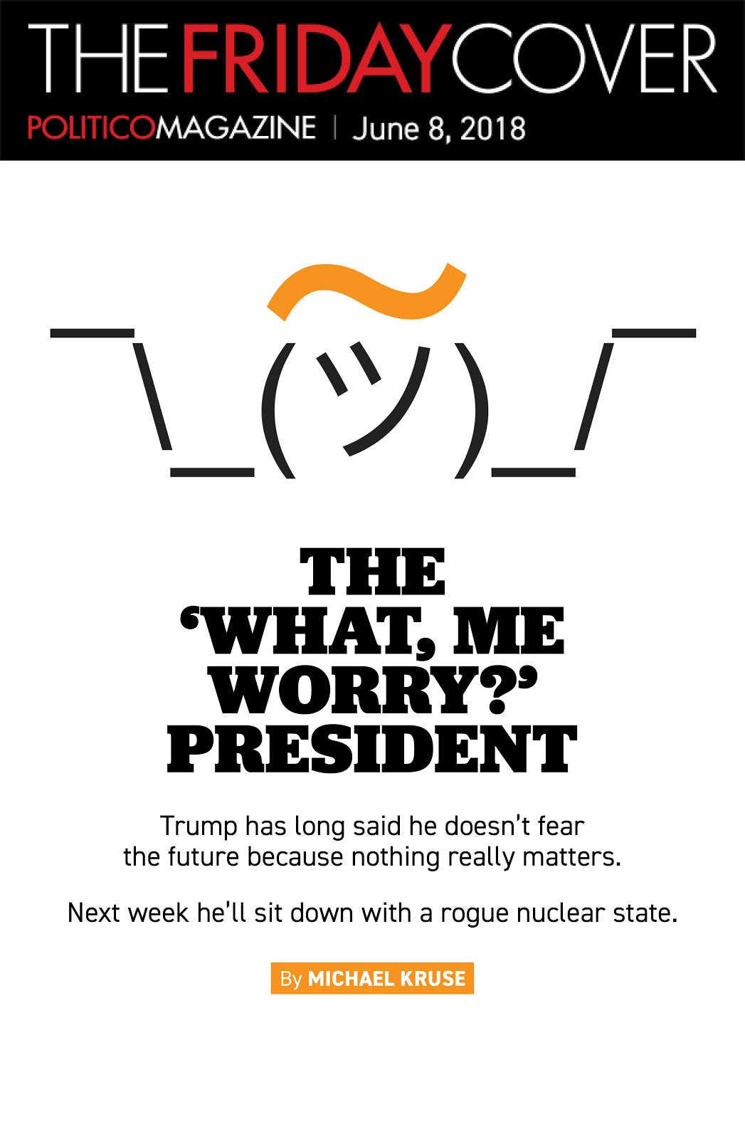 The 'What, Me Worry?' President
